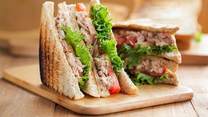 tuna sandwich with mayonaise