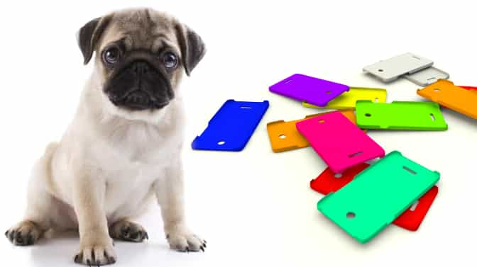 Pug cell phone case covers